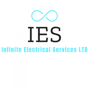 Infinite Electrical Services​ full logo white shape